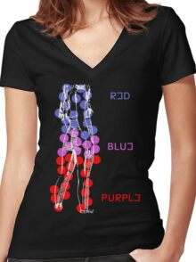 Colors - HALSEY Women's Fitted V-Neck T-Shirt