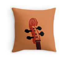 Cello Scroll VRS2 Throw Pillow