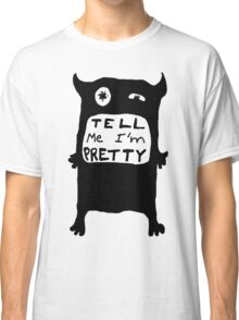Pretty Monster Drawing in Black and White Classic T-Shirt
