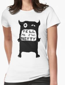 Pretty Monster Drawing in Black and White T-Shirt