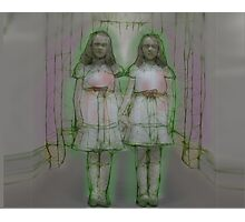 Shining Ghost Twins Photographic Print