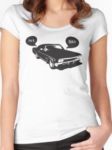 Home is the Impala Women's Fitted Scoop T-Shirt
