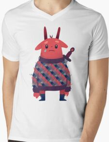 Sword Bunny Mens V-Neck T-Shirt