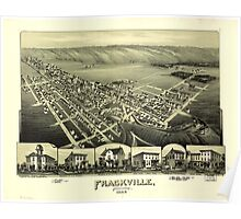 Panoramic Maps Frackville Pennsylvania Poster