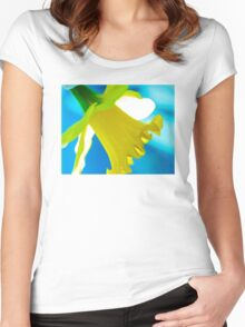 Daffodil Blues Women's Fitted Scoop T-Shirt