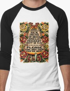 Informative Signs - Set 01 - If you are... Men's Baseball ¾ T-Shirt