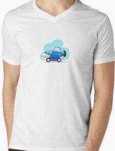 Blue car Mens V-Neck T-Shirt