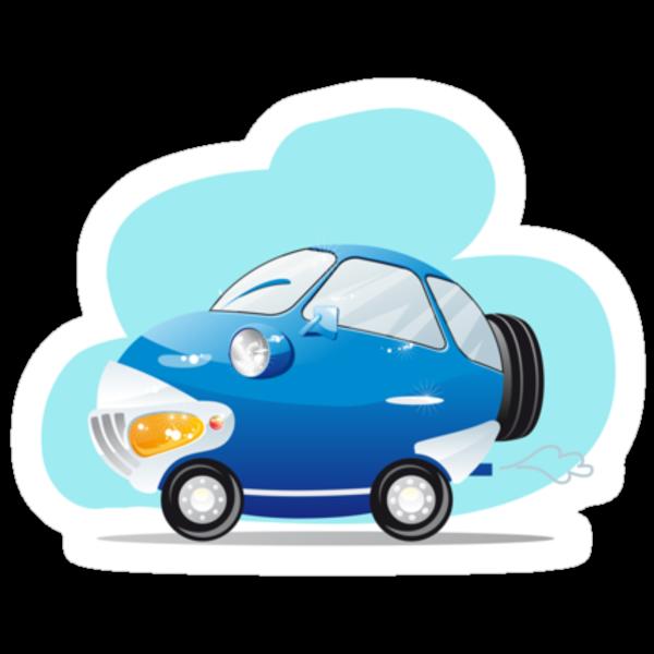 Blue car by -ashetana-