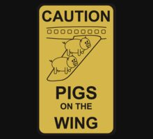 Caution - Pigs on the Wing by Andrei Scurei