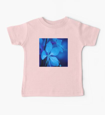 Mom and her little one matching Blue Beauty QTees Baby Tee
