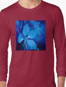 Mom and her little one matching Blue Beauty QTees Long Sleeve T-Shirt