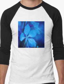 Mom and her little one matching Blue Beauty QTees Men's Baseball ¾ T-Shirt