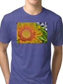 Mom and Baby matching Sunflower QTees Tri-blend T-Shirt