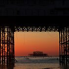 Brighton Pier, Old & New by Paul Knowles