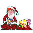 Merry Christmas Cartoon Santa by StudioDomingos