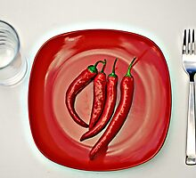 some like it hot... bon appétit by Gregoria  Gregoriou Crowe