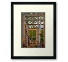 Thru Times Window Framed Print