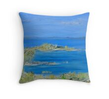 Long Island shore Throw Pillow