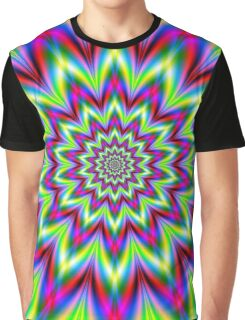 Psychedelic Star Flower Graphic T-Shirt