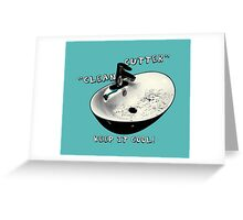 clean cutter, keep it cool! Greeting Card