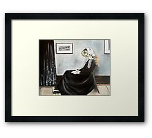 Whistler's Mother (as a fish) Framed Print