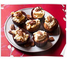 Coffee and pecan cupcakes Poster