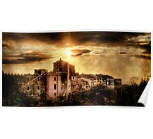 Old Montalto at Sunset Poster