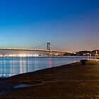 Firth of Forth Bridges at night by Simon Kirwin