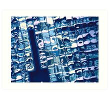 cool blue reflection on mississauga office building Art Print