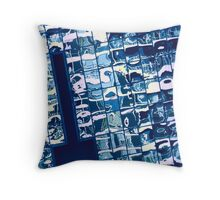 cool blue reflection on mississauga office building Throw Pillow