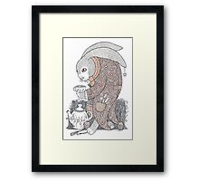 The March Hare Awaits Framed Print