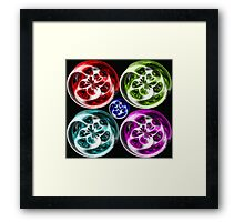 Coloured Globes  Framed Print