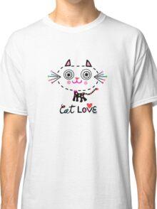Cat Love - heart Classic T-Shirt