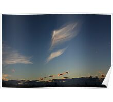 Amazing cloud at dusk Poster