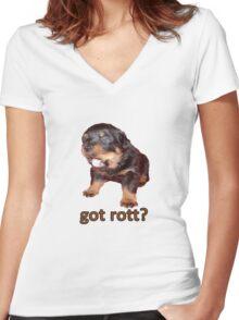Got Rott? Rottweiler Owner  Women's Fitted V-Neck T-Shirt