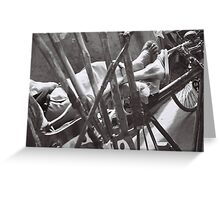 rickshaw rest Greeting Card