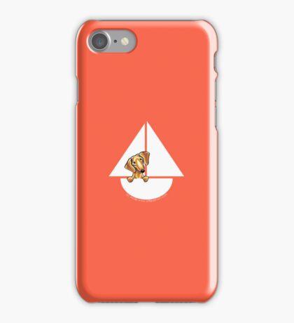 Smooth Red Dachshund Sail Away iPhone Case/Skin