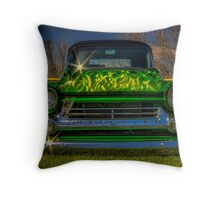 Green, Flamed & Grounded Throw Pillow