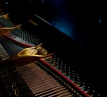 Piano in jazz club, Volupte Lounge by Catherine Chapman