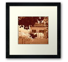 In a quieter place Framed Print