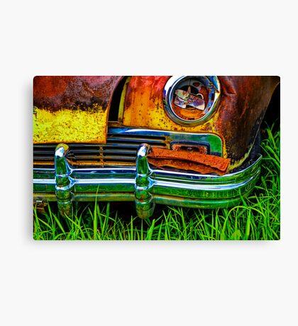 Vintage Frazer Auto Wreck Front End Canvas Print
