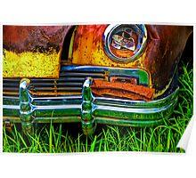 Vintage Frazer Auto Wreck Front End Poster