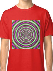 Green  and Pink Toothed Rings Classic T-Shirt