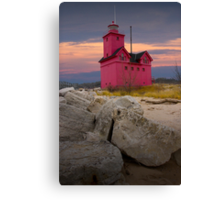 Big Red Lighthouse by Holland Michigan No.0173 Canvas Print