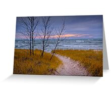 Sunset Photograph of a Trail to the Beach Greeting Card