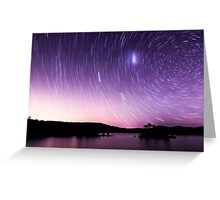 Perseverance Dam Startrails Greeting Card