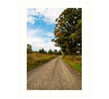 Old Country Road Landscape Art Print