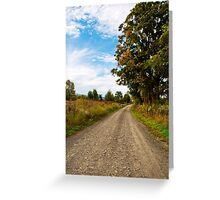 Old Country Road Landscape Greeting Card