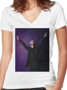 Doctor Disco (12th Doctor) Women's Fitted V-Neck T-Shirt
