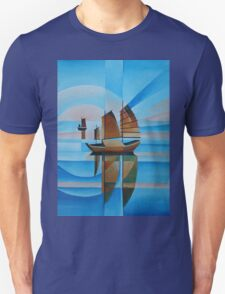 Soft Skies, Cerulean Seas and Cubist Junks Unisex T-Shirt